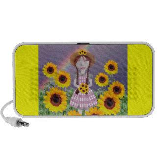 Suzy Sunflower Laptop Speakers