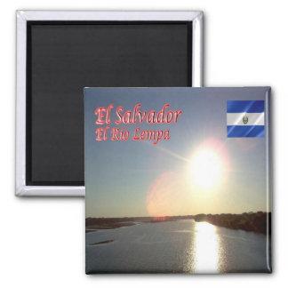 SV - El Salvador - EL Río Lempa Imán Cuadrado
