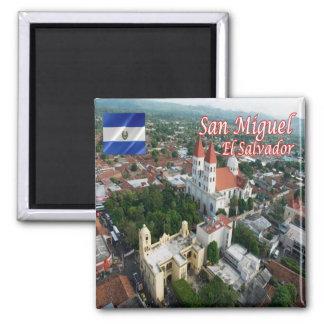SV - El Salvador - San Miguel 2 Inch Square Magnet