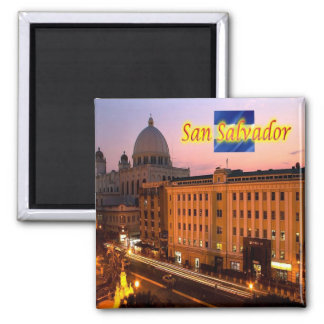SV - El Salvador - San Salvador Historical Center 2 Inch Square Magnet
