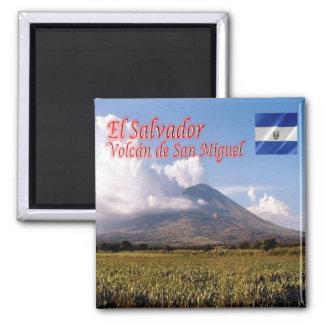 SV - El Salvador - Volcano San Miguel 2 Inch Square Magnet
