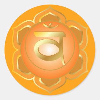 Svadisthana o pegatina sacro del chakra