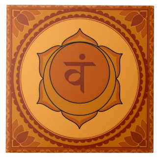Svadisthana or Sacral Chakra Large Square Tile