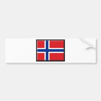 Svalbard Jan Mayen (Norway) Flag Bumper Sticker