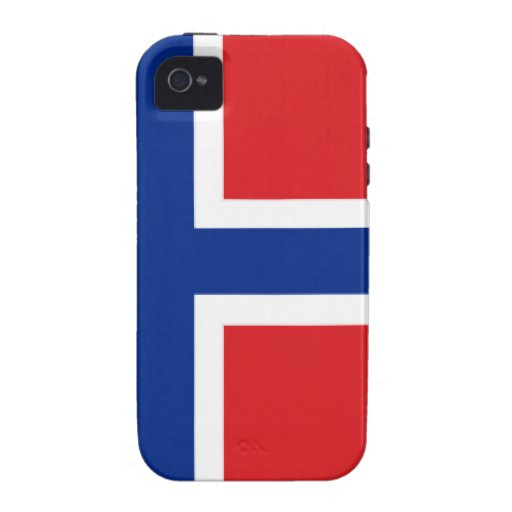 Svalbard Jan Mayen (Norway) Flag Case-Mate iPhone 4 Covers