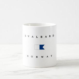 Svalbard Norway Alpha Dive Flag Coffee Mug
