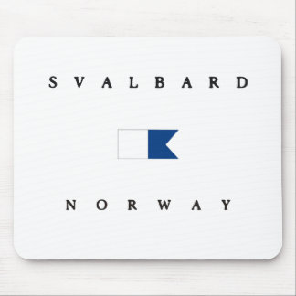 Svalbard Norway Alpha Dive Flag Mouse Pad