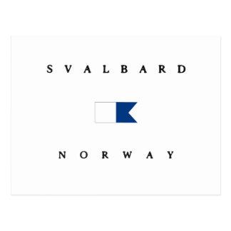 Svalbard Norway Alpha Dive Flag Post Card