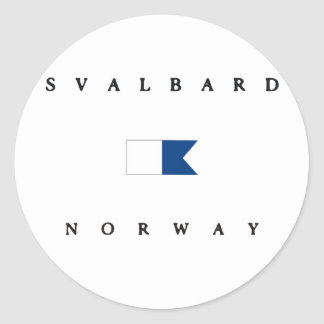 Svalbard Norway Alpha Dive Flag Stickers