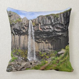 Svartifoss waterfall, Iceland Throw Pillow