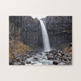 Svartifoss waterfall in Iceland Puzzle
