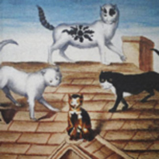 French Cats on a Roof