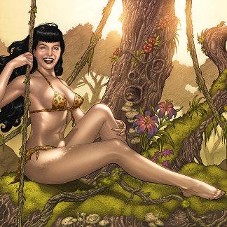 Bettie Page Jungle Girl Pinup by the Artist Al Rio