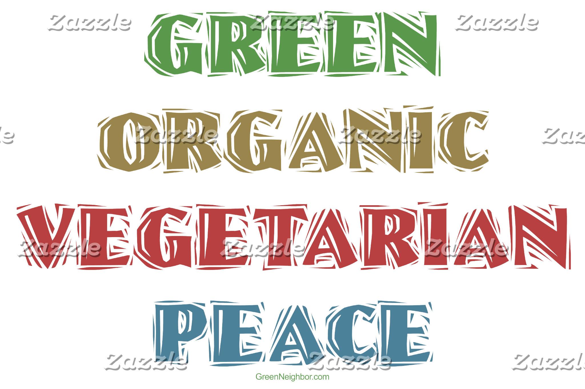 Green Org Veg Peace