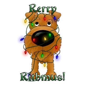 Irish Terrier - Christmas Lights