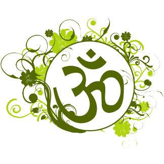 Buddhist Floral Green Om