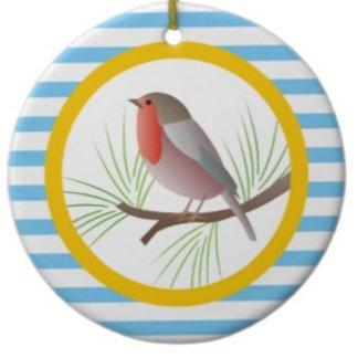 Cute robin redbreast