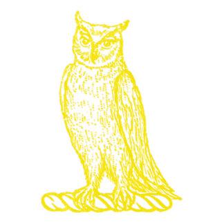 Owl Crest (Golden Letterpress Style)