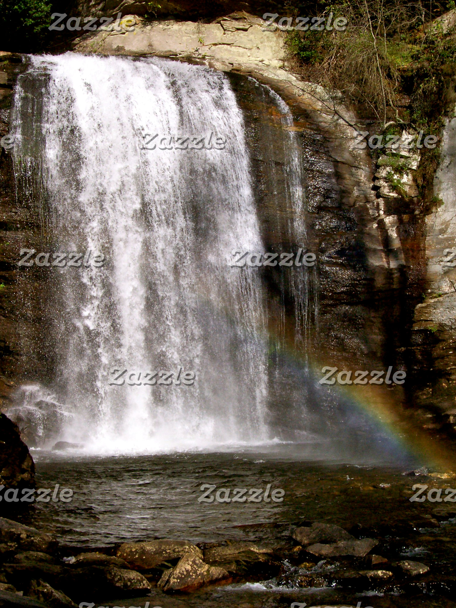 Rainbow at Looking Glass Falls