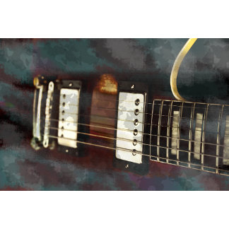 guitar instrument grunge faded red electric