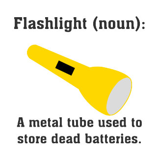 What's a flashlight: Witty tees and gifts.