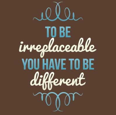 Be Irreplaceable Be Different Blue