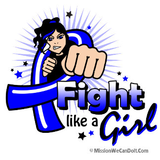 Animated Fight Like A Girl Colon Cancer