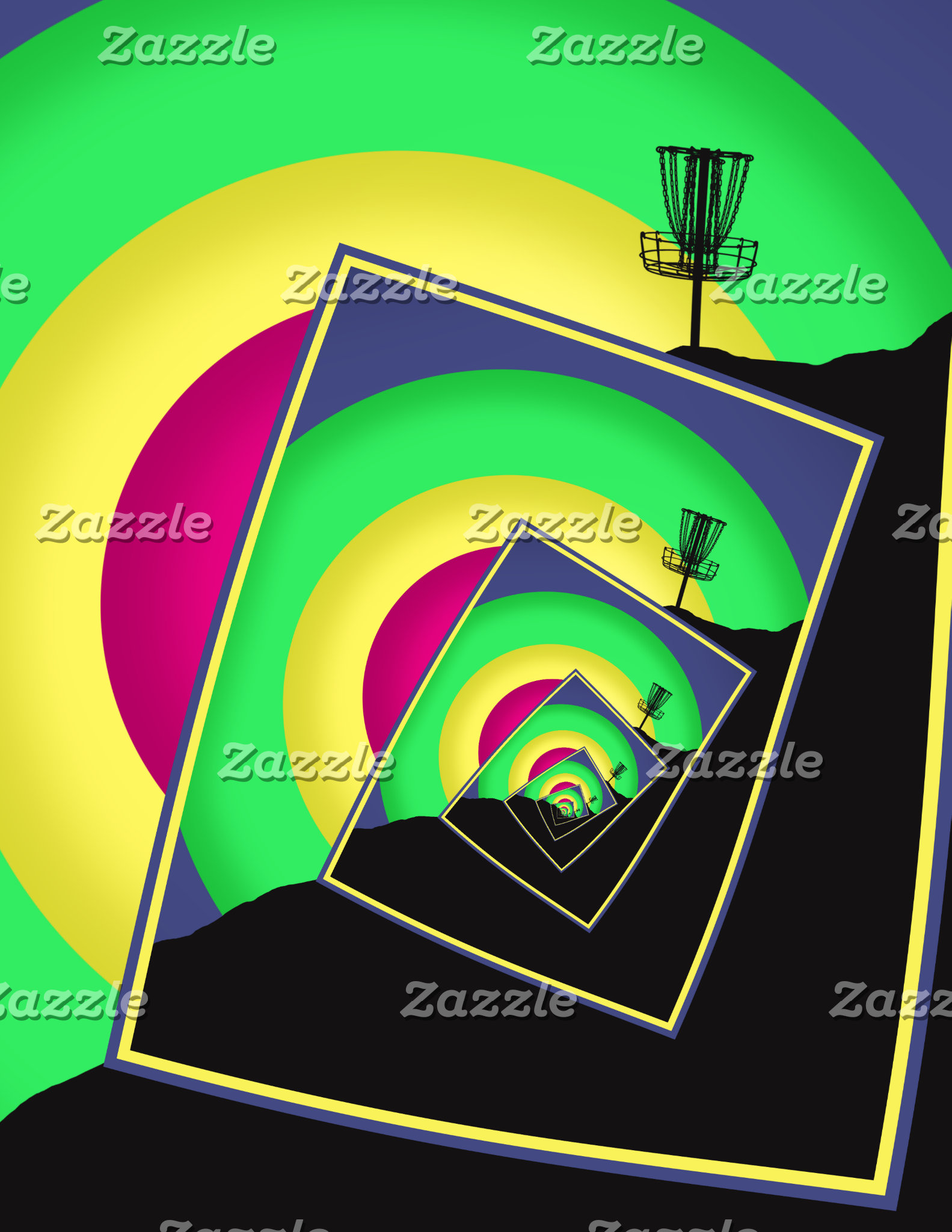 Spinning Disc Golf Baskets 5