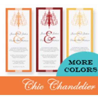 Chic Chandelier Wedding Invitations