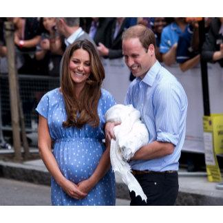 Kate & William Holding Newborn Son