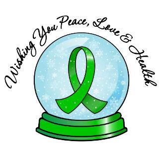 Kidney Cancer Ribbon Merry Christmas Snowglobe