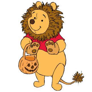 Pooh in Lion Costume