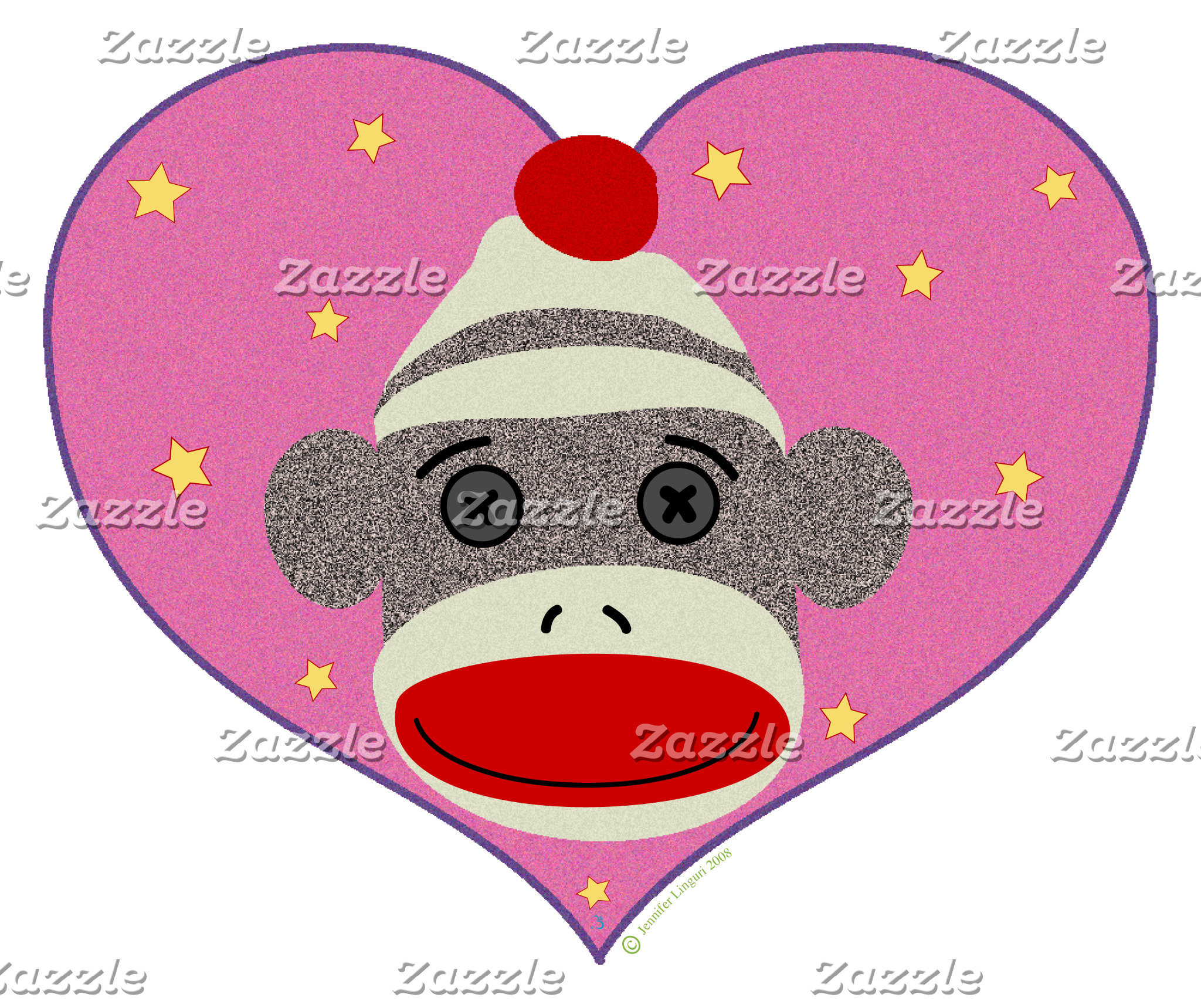 I Heart Sock Monkey