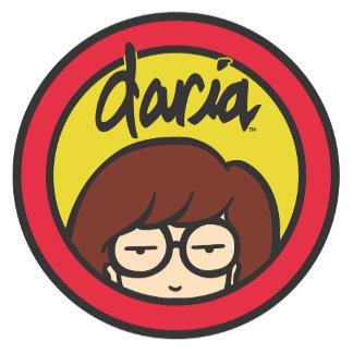 Daria Circle Logo Gold/Red