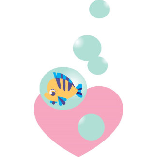 Flounder In Bubble with Heart