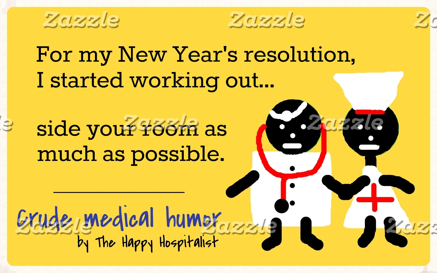 For my New Year's resolution, I started working...