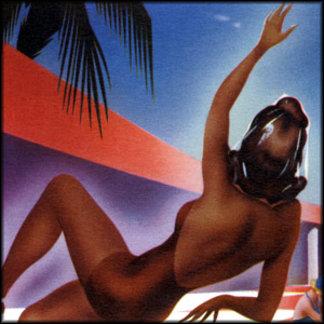 Vintage Swimming Illustration