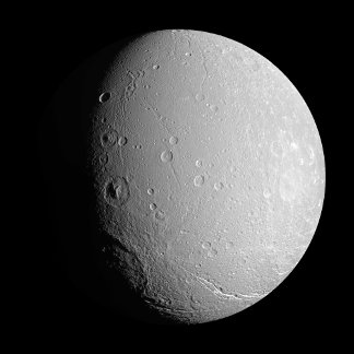 Saturn's moon Dione 2