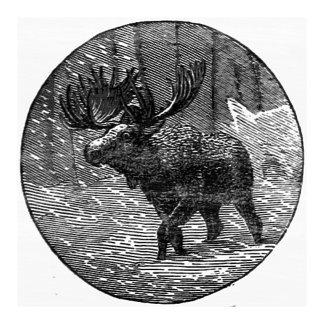 Moose in Snow Emblem