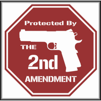 Protected by The Second Amendment ( Red )