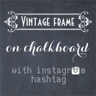 Vintage frame with hashtag