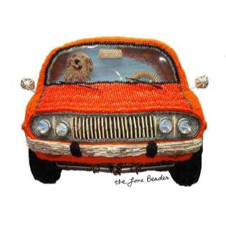 Orange Pickup Truck