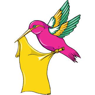 Hummingbird 3 ~ Vintage Forties Tattoo Bird Art