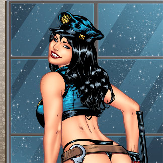 Police Girl, Security Pinup Art and Illustrations