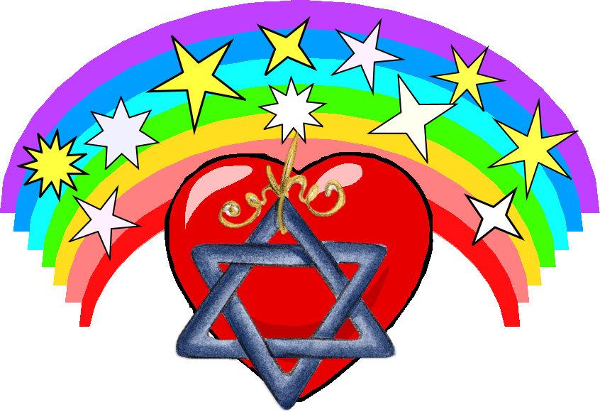Rainbow and Jewish Stars
