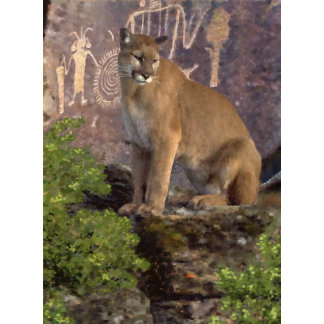 Cougar and Pictographs