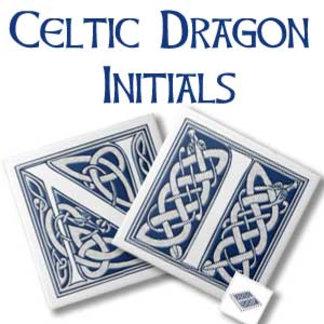 Celtic Dragon Initials