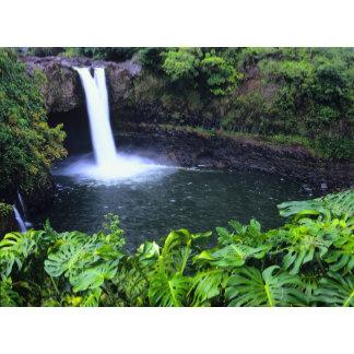 Hawaii, Big Island, Hilo, Rainbow Falls, Lush