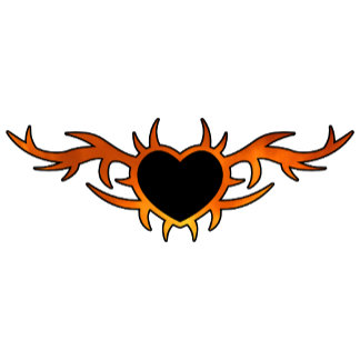 Flame Heart Tattoo