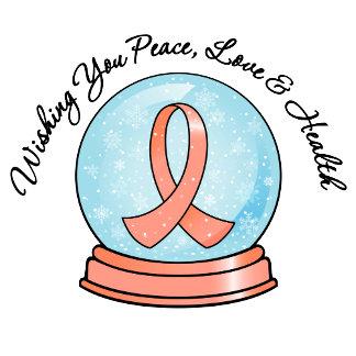 Endometrial Cancer Merry Christmas Snowglobe